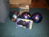 cambio bolas brunswick made in usa par jugar alos bolos